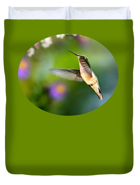 Garden Hummingbird Duvet Cover by Christina Rollo