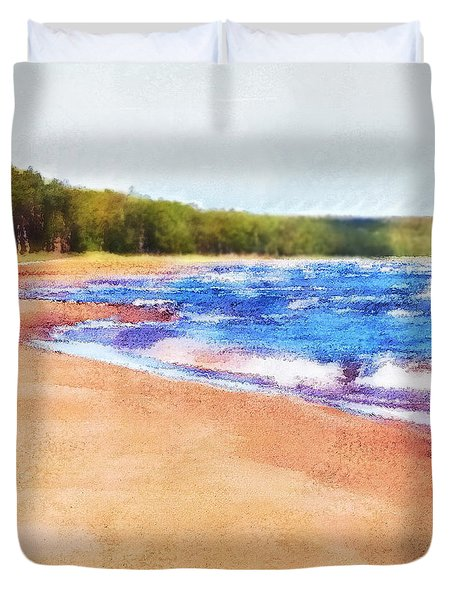 Duvet Cover featuring the photograph Colors Of Water by Phil Perkins