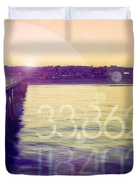Hermosa Beach California Duvet Cover