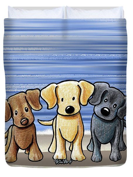 Labrador Beach Trio Duvet Cover