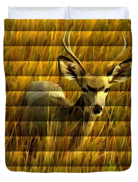 The Buck Poses Here Duvet Cover