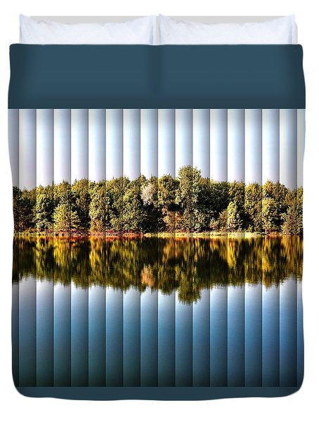 When Nature Reflects - The Slat Collection Duvet Cover