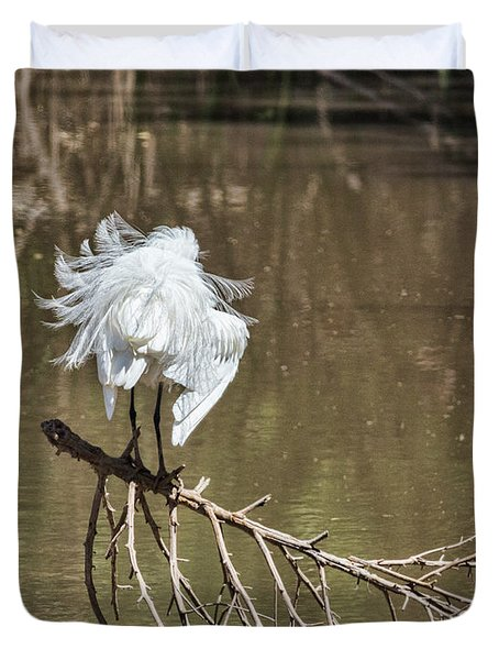 Duvet Cover featuring the photograph Fluff Time by Bill Kesler