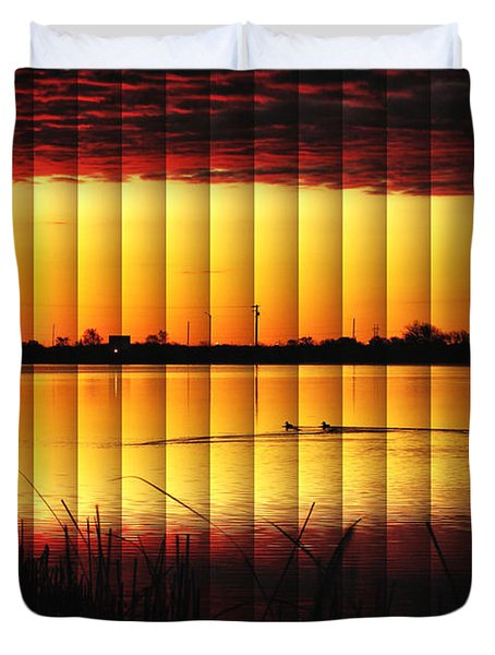 Magnificent Sunrise Swim Duvet Cover