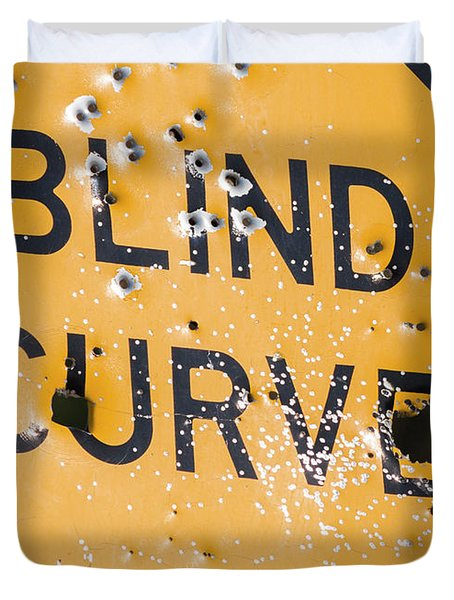 Blind Curve Duvet Cover