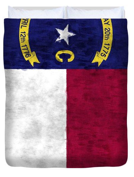 North Carolina Flag Duvet Cover by World Art Prints And Designs