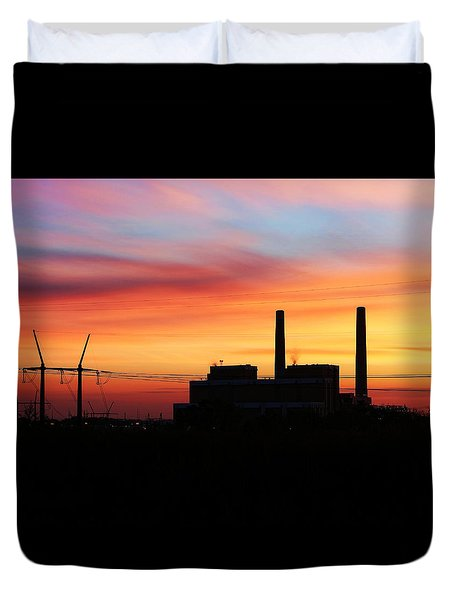 A Gentleman Sunrise Duvet Cover