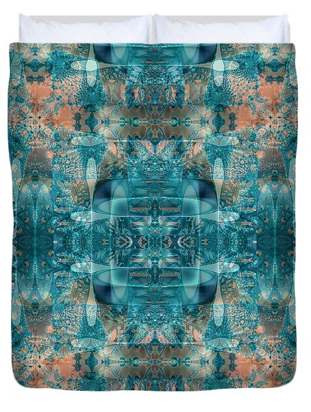 Duvet Cover featuring the digital art Subaqueous by Kristen Fox