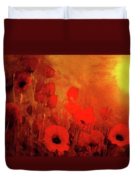 Poppy Heaven Duvet Cover