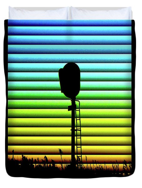 Signal At Dusk Duvet Cover
