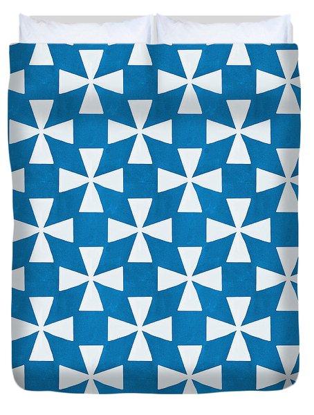 Blue Twirl Duvet Cover by Linda Woods
