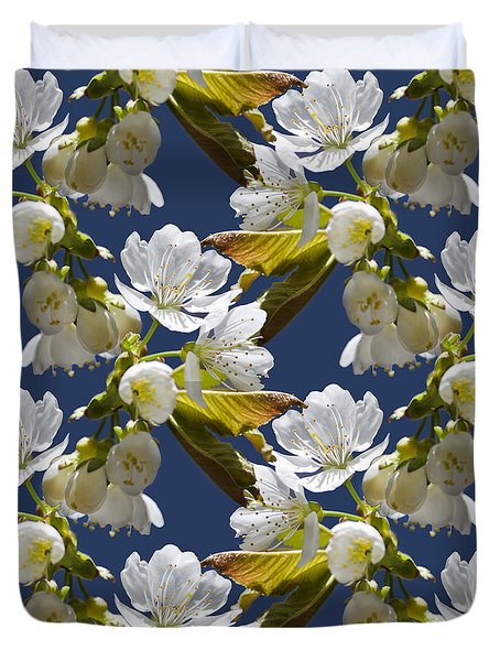 Cherry Blossoms Duvet Cover by Christina Rollo