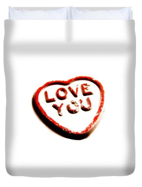 Love You Duvet Cover by Mark Rogan