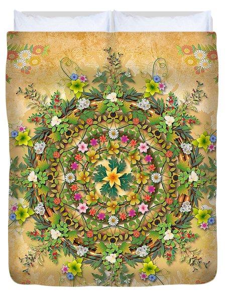 Mandala Flora Duvet Cover