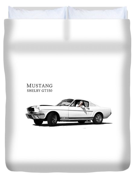 Mustang Shelby Gt 350 Duvet Cover by Mark Rogan