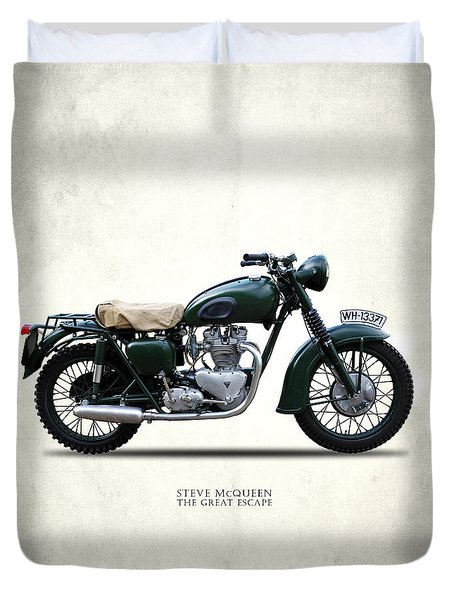 The Great Escape Motorcycle Duvet Cover