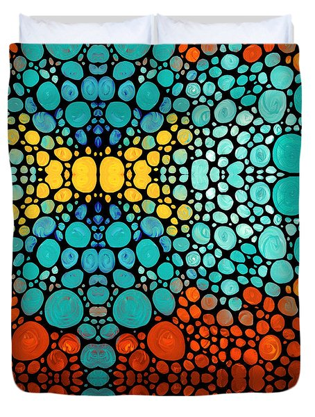 Mosaic Art - Abstract 3 - By Sharon Cummings Duvet Cover