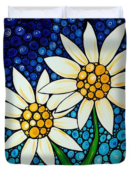 Bathing Beauties - Daisy Art By Sharon Cummings Duvet Cover