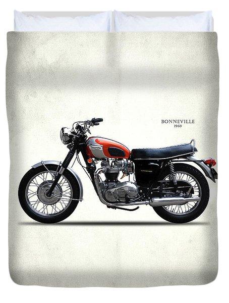 Triumph Bonneville 1969 Duvet Cover by Mark Rogan