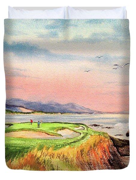 Pebble Beach Golf Course Hole 7 Duvet Cover