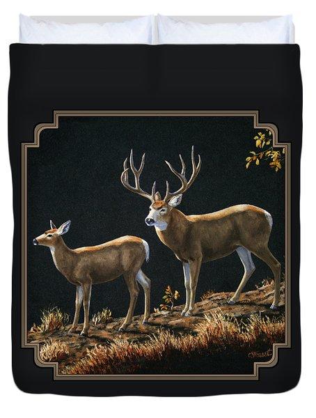 Mule Deer Ridge Duvet Cover