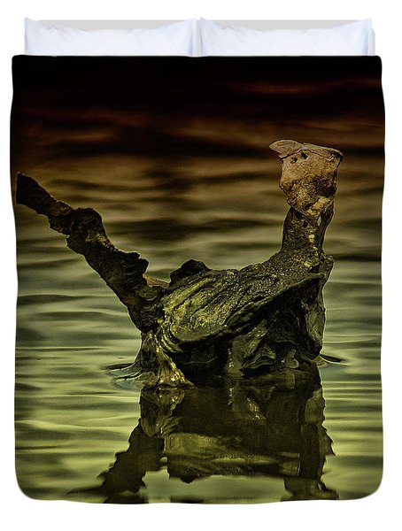 Dino Shell Duvet Cover by Kim Pate