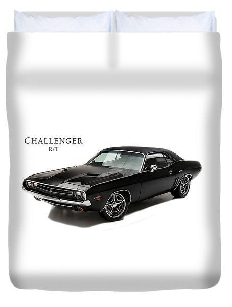 Dodge Challenger Rt Duvet Cover by Mark Rogan