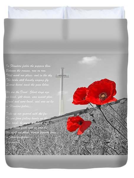 In Flanders Fields Duvet Cover