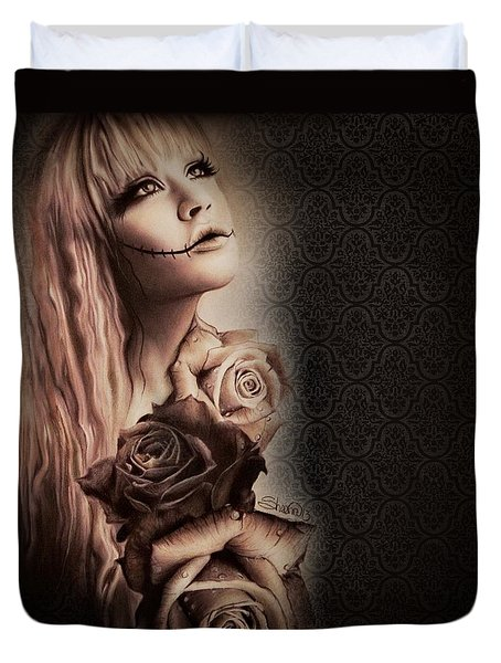 Ebony Duvet Cover by Sheena Pike