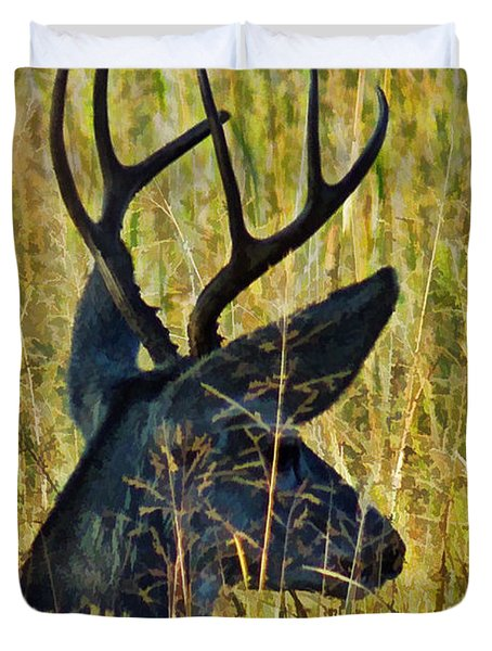 The Buck Rests Here Duvet Cover