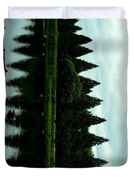 A Gaggle Of Pines Duvet Cover