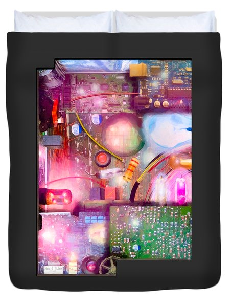 Bigger On The Inside - Techno Magic Duvet Cover