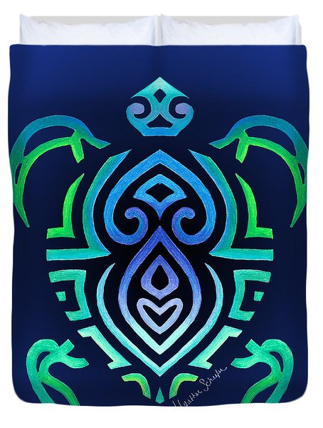 Tribal Turtle Duvet Cover