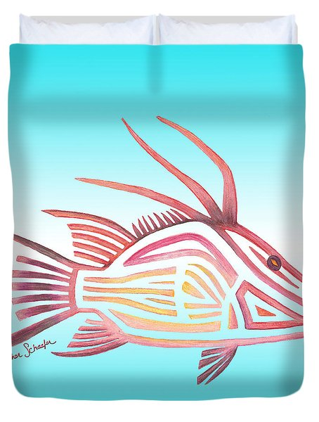 Hogfish Duvet Cover