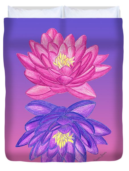 Sunrise Sunset Lotus Duvet Cover