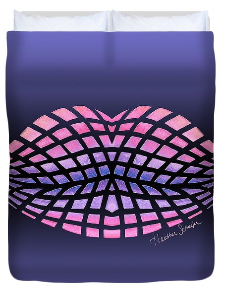 Vasarely Style Lips Duvet Cover
