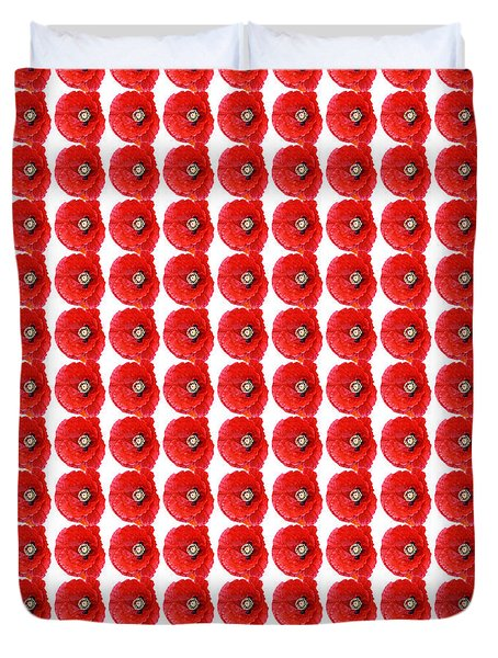 Beautiful Red Poppy Papaver Rhoeas Duvet Cover