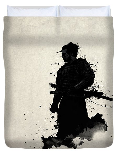 Duvet Cover featuring the painting Samurai by Nicklas Gustafsson