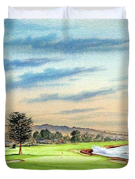 Pebble Beach Golf Course 18th Hole Duvet Cover