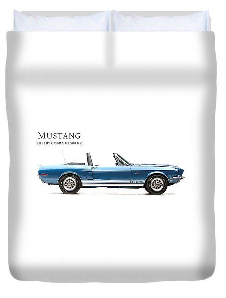 Shelby Cobra Gt500 Kr Duvet Cover by Mark Rogan