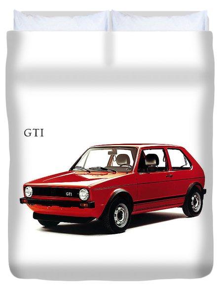 Vw Golf Gti 1976 Duvet Cover