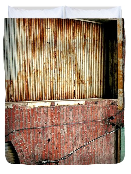 Door Number One Duvet Cover