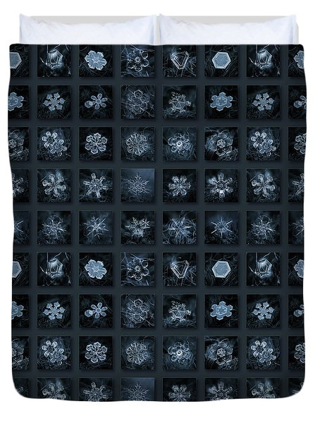 Snowflake Collage - Season 2013 Dark Crystals Duvet Cover