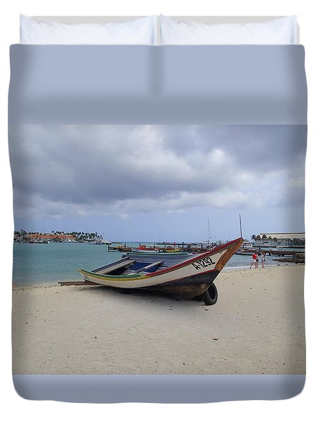 Aruba Beach Duvet Cover by Lois Lepisto