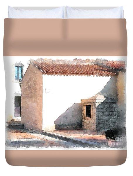 Arzachena Building Duvet Cover