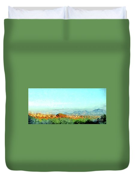Arzachena Landscape With Mountains Duvet Cover