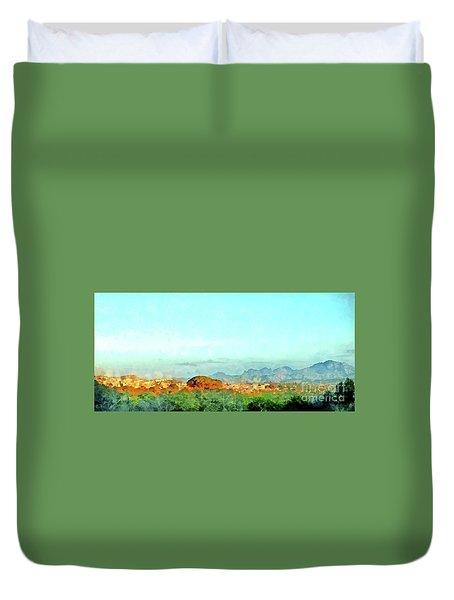 Arzachena Landscape With Mountains Duvet Cover