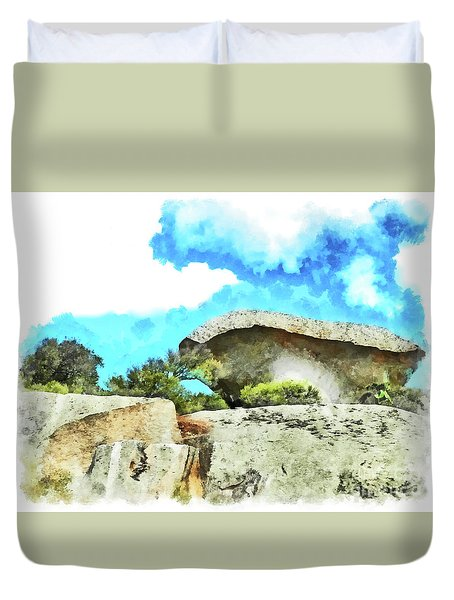 Arzachena Mushroom Rock Duvet Cover