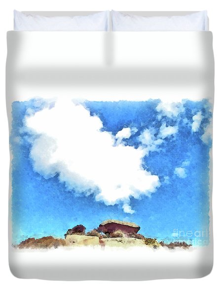 Arzachena Mushroom Rock With Cloud Duvet Cover