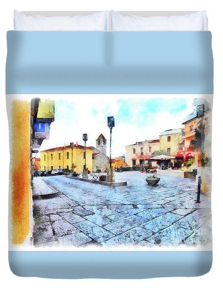 Arzachena Risorgimento Square Duvet Cover